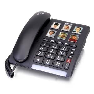 טלפון קווי מותאם לכבדי שמיעה וראיה